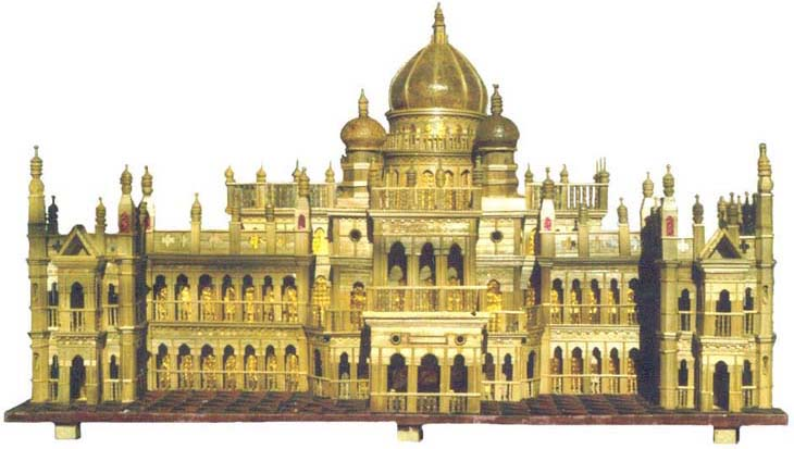Coochbehar Rajbari made of Bamboo strips